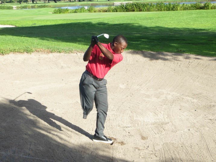 SAGDA First Swing Programme member Simu Mdudu is primed for his Nedbank SA Disabled Golf Open debut at Zwartkop Country Club from 2-4 May 2016; credit SADGA.