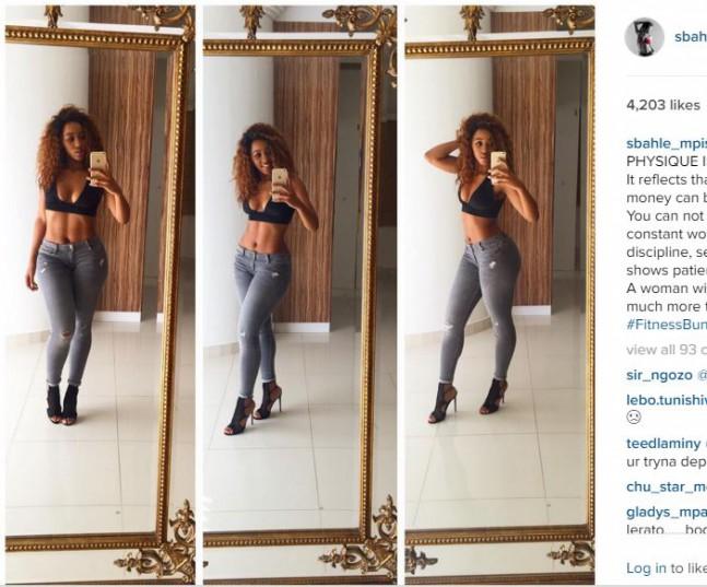 Itmemeleng Khune's girlfriend Sebathle Mpisane. Picture: Sebathle Mpisane/Instagram