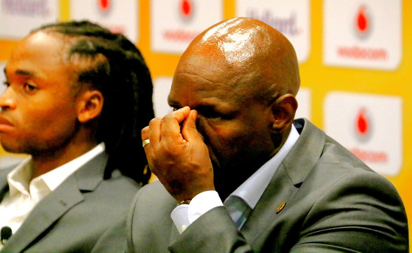 Steve Komphela during the Kaizer Chiefs press conference. (Photo by Anesh Debiky/Gallo Images)
