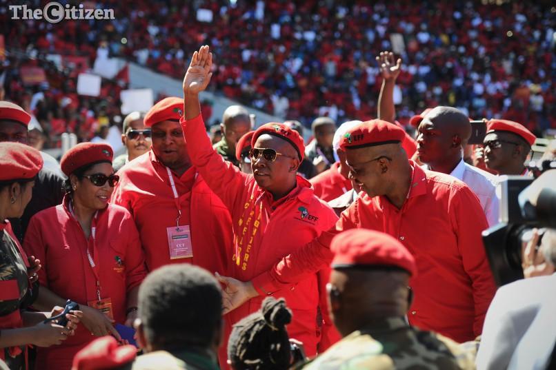 EFF Comander in Chief Julius Malema. Picture: Michel Bega