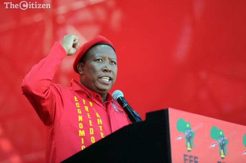 EFF Comander in Chief Julius Malema is seen at the EFF Manifesto Launch, 30 April 2016, at Orlando Stadium in Soweto. Picture: Michel Bega