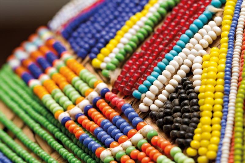Colourful beads used as decoration in Venda culture. Feature text available. (Photo by Gallo Images / GO! / Villiers Steyn)