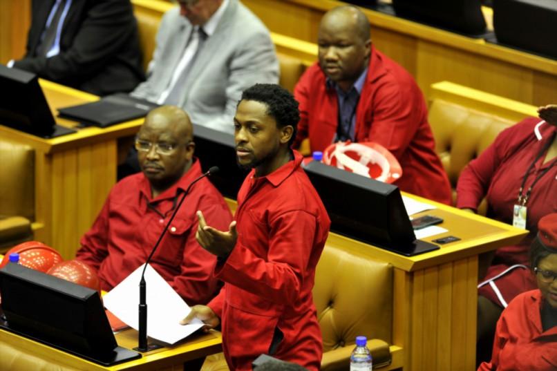 EFF National spokesperson Mbuyiseni Ndlozi. (Photo by Gallo Images / Beeld / Lerato Maduna).