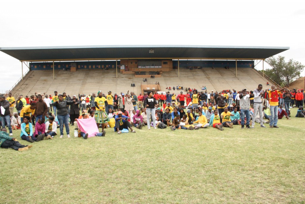 The crowd that were at the COSATU provincial May Day rally at Lulekani Stadium last Sunday. PHOTO: Letaba Herald.