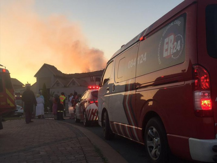 Centurion doctor in critical condition after fire