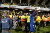 Fans during the Absa Premiership match between University of Pretoria and Mamelodi Sundowns at Tuks Stadium on May 04, 2016 in Pretoria, South Africa. (Photo by Lefty Shivambu/Gallo Images)