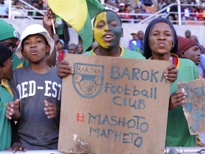 Baroka fans during the National First Division match between Baroka FC and Milano United AFC at Peter Mokaba Stadium. (Photo by Philip Maeta/Gallo Images)