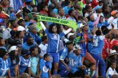 POLOKWANE, SOUTH AFRICA - MAY 28, SuperSport Fans during the Nedbank Cup Final between SuperSport United and Orlando Pirates at the Peter Mokaba Stadium on May 28, 2016 in Polokwane, South Africa. (Photo by Frennie Shivambu/Gallo Images)