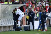 POLOKWANE, SOUTH AFRICA - MAY 28, SuperSport goalkeeper Ronwen Williams celebrates with fans during the Nedbank Cup Final between SuperSport United and Orlando Pirates at the Peter Mokaba Stadium on May 28, 2016 in Polokwane, South Africa. (Photo by Frennie Shivambu/Gallo Images)
