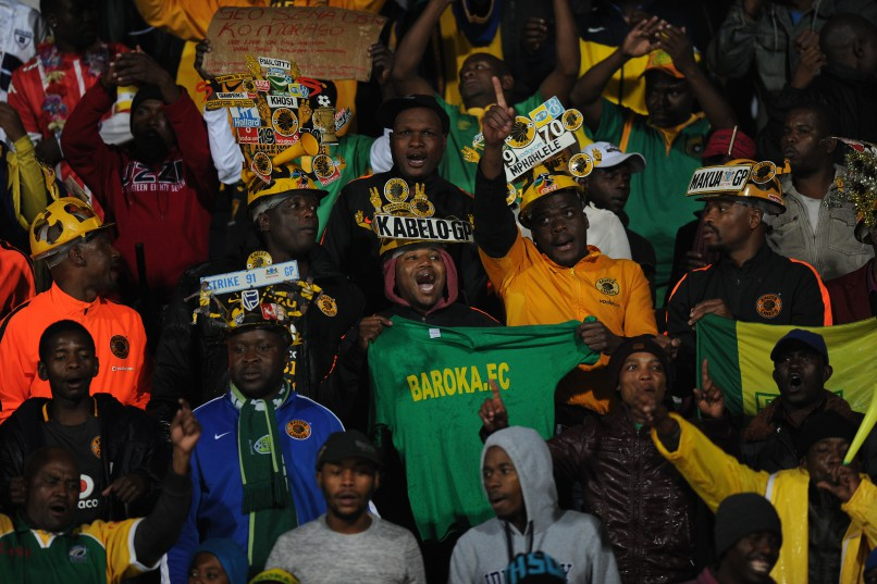 PRETORIA, SOUTH AFRICA - MAY 14:  Baroka FC  supporters during the Nedbank Cup, semi final match between SuperSport United and Baroka FC at Lucas Moripe Stadium on May 14, 2016 in Pretoria, South Africa. (Photo by Gallo Images)