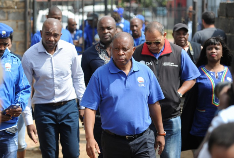 Democratic Alliance; leader Mmusi Maimane, Herman Mashaba, John Moodey and Solly Msimanga campaign in Diepkloof on April 06, 2016 in Soweto, South Africa | Gallo Images