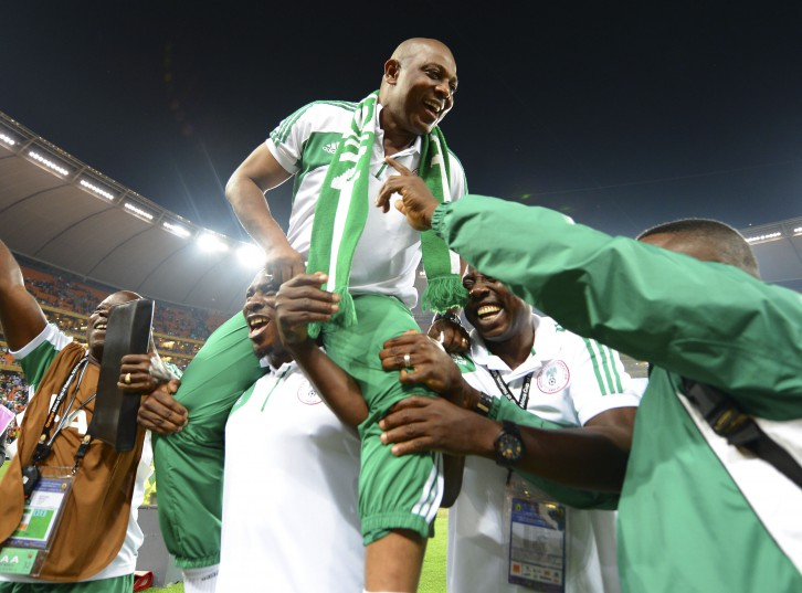 Stephen Keshi, coach of Nigeria during the 2013 Orange Africa Cup of Nations Final football match between Nigeria and Burkina Faso at the National Stadium in Johannesburg, South Africa on February 10, 2013©Barry Aldworth/BackpagePix