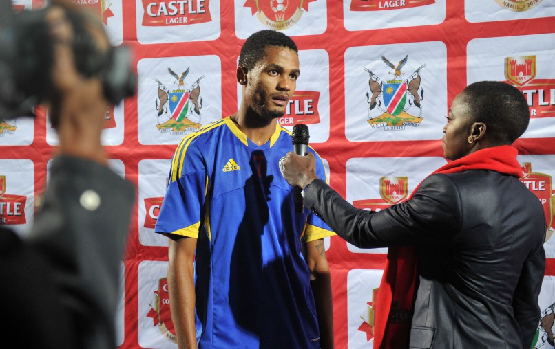 Man of the match Felix Badenhorst of Swaziland during the 2016 Cosafa Cup match between Swaziland and Seychelles at Sam Nujoma Stadium in Windhoek Namibia on June 13. Photo: ©Muzi Ntombela/BackpagePix