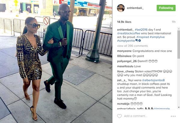 Mbali Mlotshwa's post on Instagram.