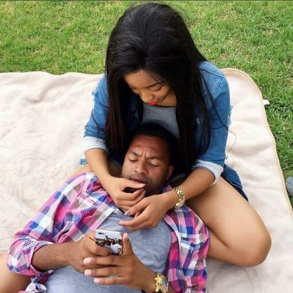 Itumeleng Khune and his girlfriend, Sbahle Mpisane.