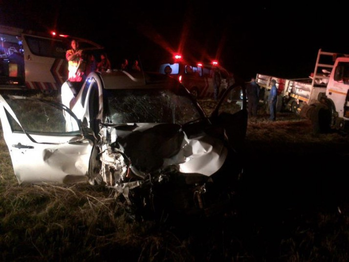 Truck collision leaves man seriously injured