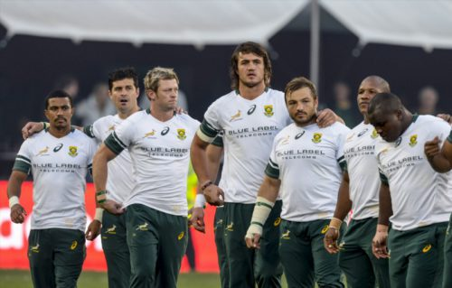 Springbok players during the 2nd Castle Lager Incoming Series Test match between South Africa and Ireland at Emirates Airline Park on June 18, 2016 in Johannesburg, South Africa. Picture: Gallo Images