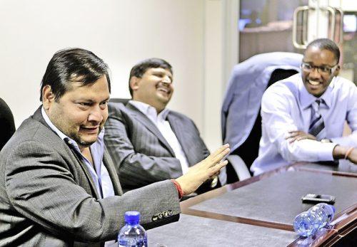 Ajay and Atul Gupta, and Duduzane Zuma. Picture: Gallo Images