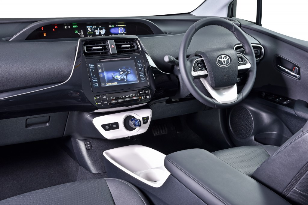 The interior of Toyota's Fourth Generation Prius