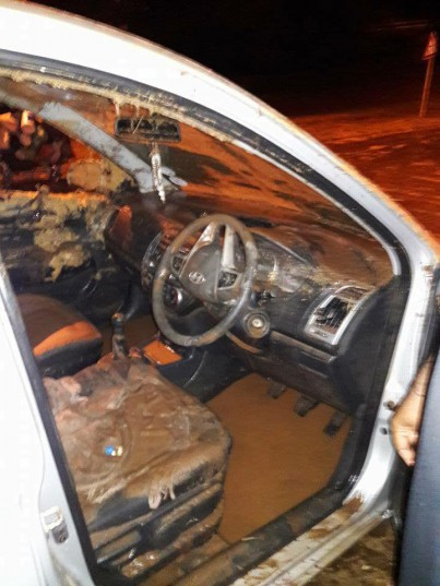 The car was submerged within a matter of minutes. Photo: Northglen News, originally from Facebook