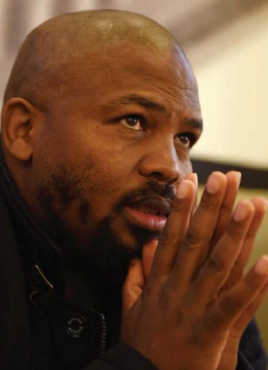 RESOLUTE. Black First Land First leader Andile Mngxitama speaks to The Citizen in Boksburg, Johannesburg, yesterday. Picture: Neil McCartney