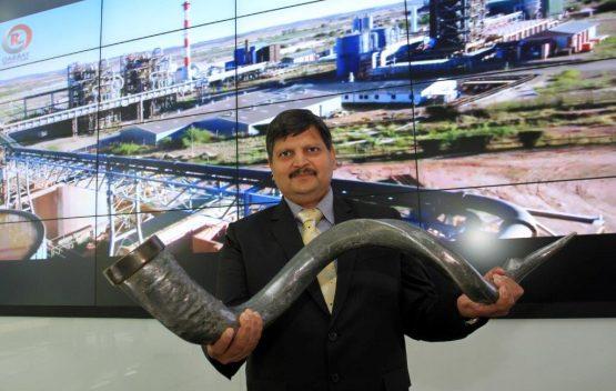 Atul Gupta pictured at Oakbay's JSE listing | Image: Moneyweb