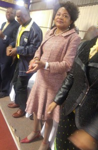 July 10 - ANC chairwoman Baleka Mbete on Sunday took her party's municipal elections campaign to Midvaal, the only DA-controlled municipality in Gauteng. She attended a service at the Evangelistic Revival Ministries in Sicelo and promised the congregation a bigger church under the ANC. Photo: ANA (Getrude Makhafola)