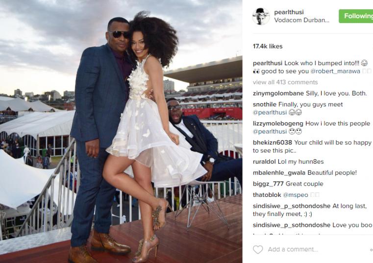Pearl Thusi's Instagram post.
