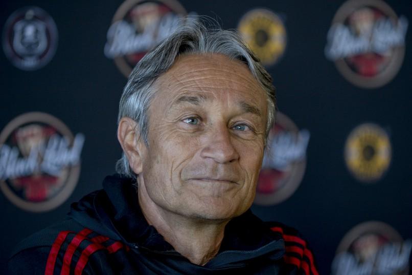 Orlando Pirates coach Mushin Ertugral. Photo: Sydney Seshibedi/Gallo Images