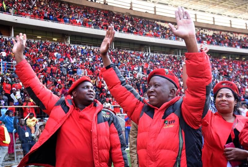 Malema addressed a capacity crowd in Polokwane. Picture: Nigel Sibanda