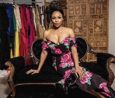 Bonang Matheba in her showstopper dress in Johannesburg on Thursday . Picture: Refi lwe Modise