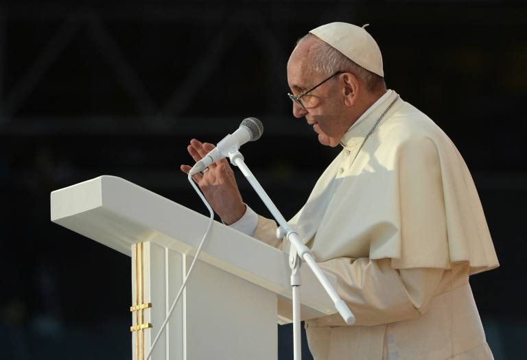 AFP / Filippo Monteforte<br />Pope Francis holds a prayer vigil at Campus Misericordiae in Brzegi as part of the World Youth Days (WYD)
