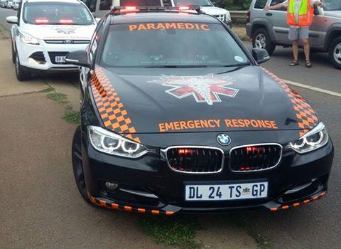 Emer-G-Med paramedics attend the scene of the shooting. Photo: Emer-G-Med