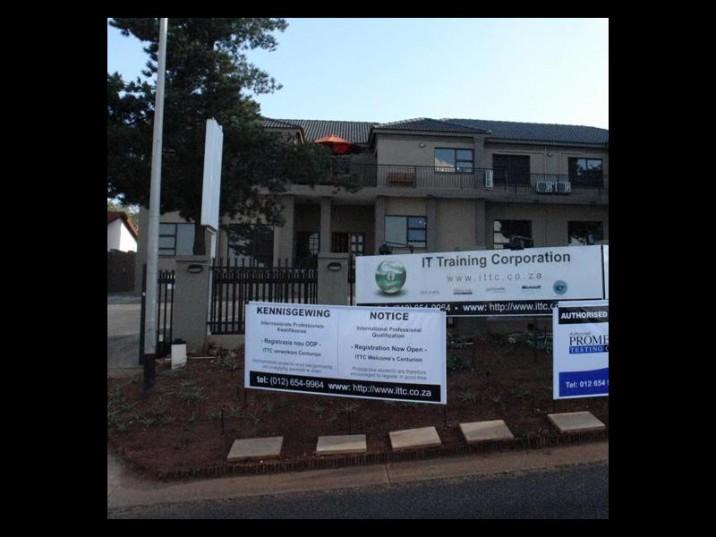 IT Training Corporation in Eldoraigne shut its doors without notice in July. PHOTO: Centurion Rekord