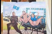 Kenny's naked Zille and Mmusi painting shocks Twitter
