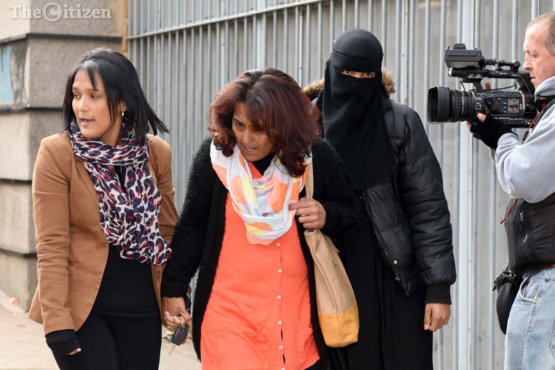 Wasiela Thulsie (centre) with her daughter Sumaya Lackay (left). Picture: Neil McCartney