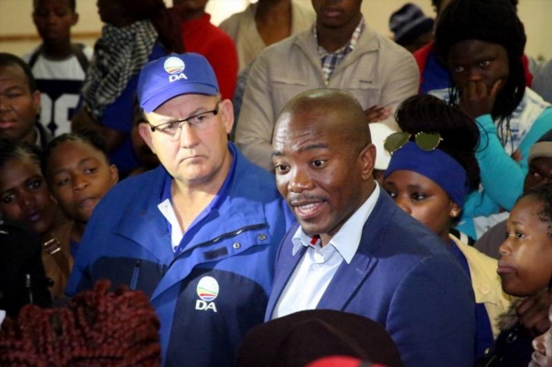 Democratic Alliance (DA) leaders Mmusi Maimane and Athol Trollip. Picture: Gallo Images