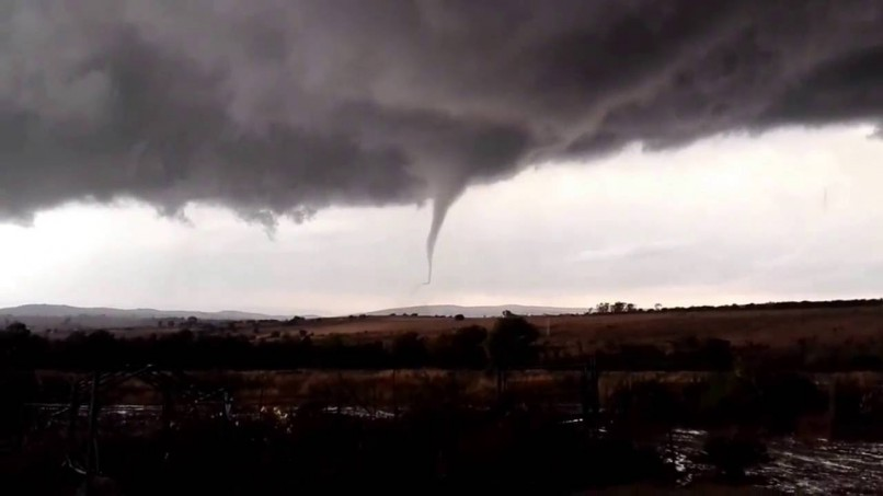The tornado spotted in Magaliesburg yesterday.