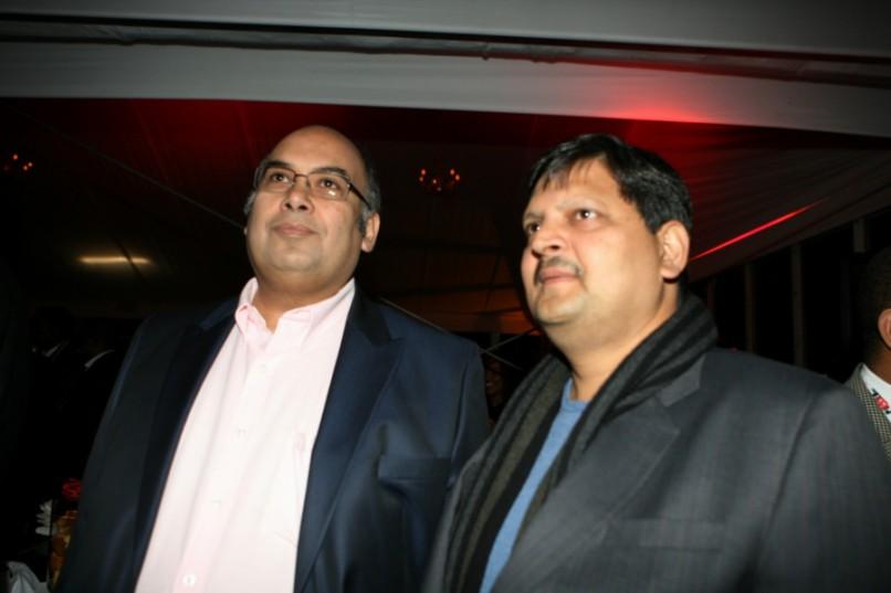 Nazeem Howa and Atul Gupta. (Photo by Gallo Images / City Press / Lucky Nxumalo)