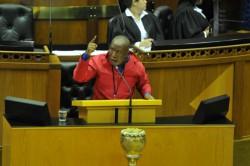 ANC voted for the 'black genocide De Klerk' – Malema