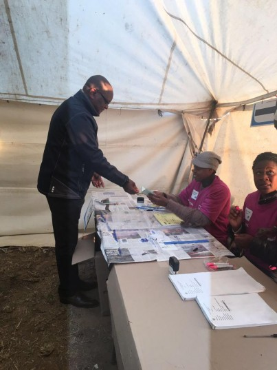 Gauteng Premier David Makhura at the polling station at Ward 106, where he cast his vote Wednesday in the municipal elections. PIC. Siphelele Dludla/ANA