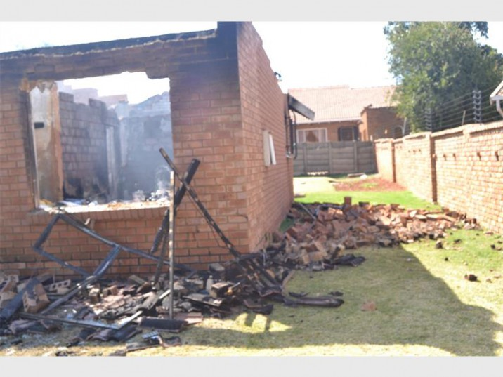 This house in Oak Avenue, Primrose, was destroyed by a fire.