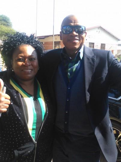 North West premier Supra Mahumapelo and ANC mayoral candidate in Madibeng, Jostinah Mothibe in Wonderkop. Photo: Supplied