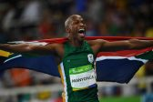 RIO DE JANEIRO, BRAZIL - AUGUST 13:  Luvo Manyonga of South Africa celebrates after the Men's Long Jump Final on Day 8 of the Rio 2016 Olympic Games at the Olympic Stadium on August 13, 2016 in Rio de Janeiro, Brazil.  (Photo by Shaun Botterill/Getty Images)