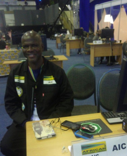 African Independent Congress spokesperson Aubrey Mhlongo at the IEC national results operations centre in Pretoria. Photo: ANA (Getrude Makhafola)