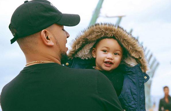 Aka and his daughter, Kairo. Image via Instagram.
