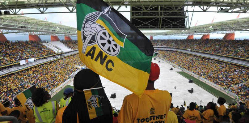 An ANC supporter hold's the party's flag. File photo.  Image: STRINGER Reuters