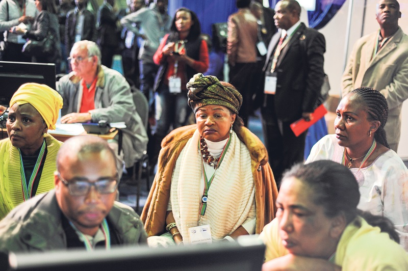National Assembly Speaker Baleka Mbete at the IEC. Picture: Jacques Nelles