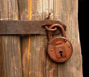 Door locked.