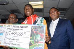 Semenya gets R500K for winning gold medal